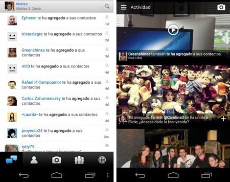El rediseño de Flickr en el móvil - actividad