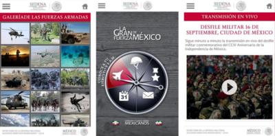 SEDENA lanza aplicación para ver del desfile de las Fuerzas Armadas de México