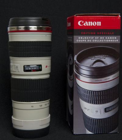 Termo con forma de teleobjetivo de Canon