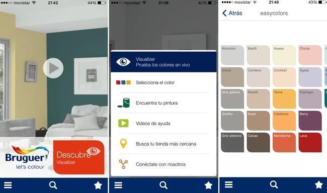 Visualizer la app de bruguer que nos ayuda a elegir - Nombres de colores de pinturas ...