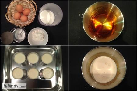 flan de huevo y queso fresco de cabra