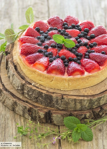 Tarta de mousse de chocolate blanco y fresas: receta