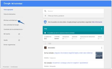 Eliminar Historial Navegacion Mi Actividad Google