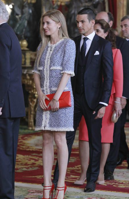 Rocio Escalona recepcion Felipe VI Letizia