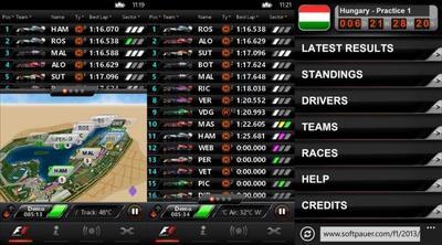 Timing '13 CP, datos en tiempo real de la Formula 1… por 26.99 dólares