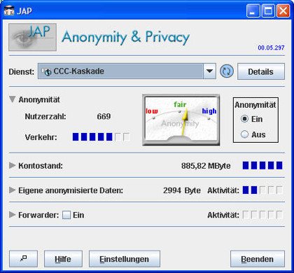 JAP y JonDonym, otro servicio para navegar anónimamente