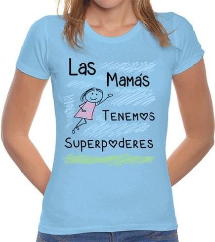 Superpoderes mamá camiseta