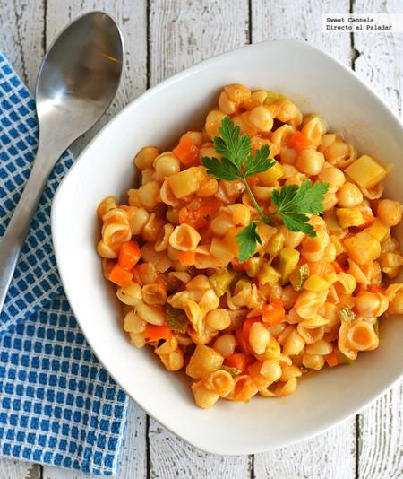 Sopa de caracol y verduras. Receta