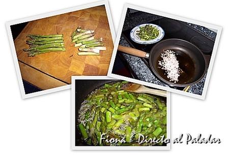 Preparación de la salsa de trigueros