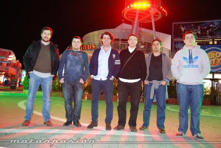Con Manuel, Hatzive, Héctor, Pablo y Javier (2012)