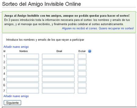 Amigo invisible online, sortea el amigo invisible por email