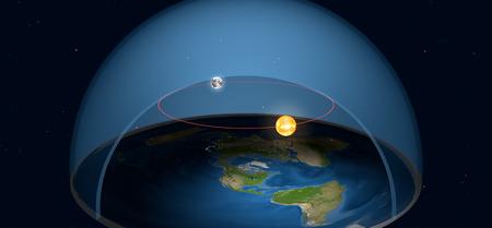 Por supuesto que los defensores de que la Tierra es plana tienen una explicación para los eclipses solares