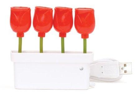 Puertos USB florales