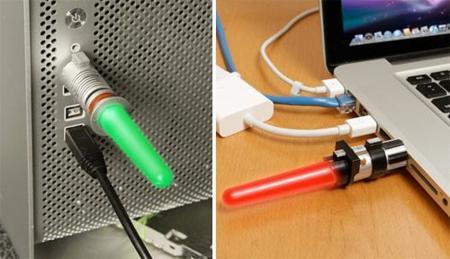 Memoria USB con forma de espada láser