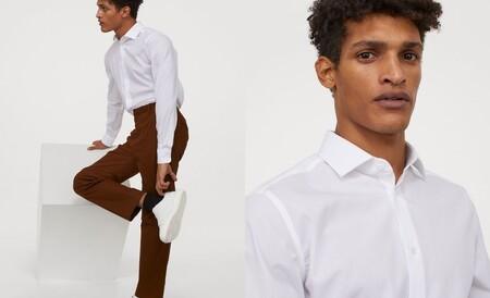 Pantalón beige slim fit
