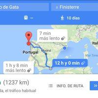 Voy para allá, pero tardaré como una hora más de lo que dice Google Maps