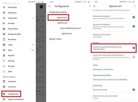 Gmail Desactivar Videollamadas Meet Reunirse