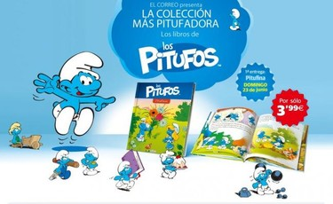 Se prepara una invasión azul: colección de libros de Los Pitufos