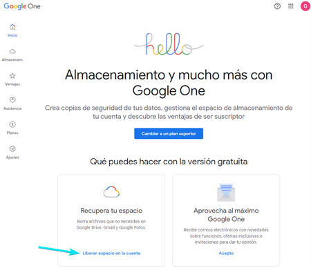 Free Up Space Google One