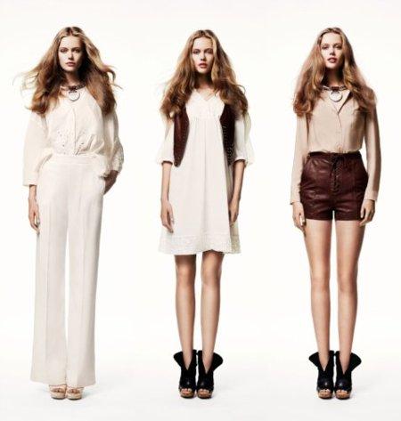 catálogo de H&M y el color blanco