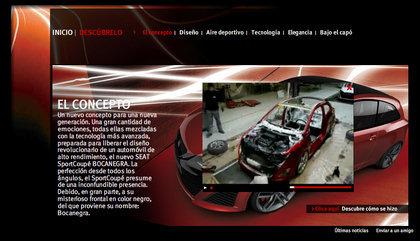 Minisite del SEAT Sportcoupé Bocanegra para los más fanboys