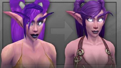 Blizzard presenta nuevo diseño de elfas nocturnas para WoW