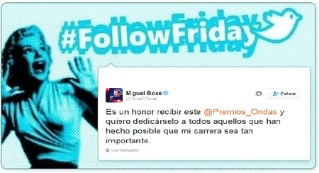 #FollowFriday de Poprosa: unos corren maratones en NY y otros recogen Premios Ondas