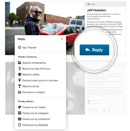 About.me lanza Replies, para que las visitas a los perfiles conduzcan a acciones concretas