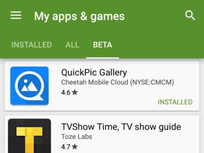 Play Store 6.7.12 permite probar aplicaciones en su versión beta