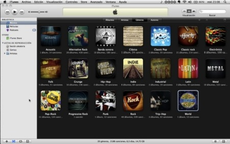 Cómo añadir nuevas portadas a la vista por géneros de iTunes 8