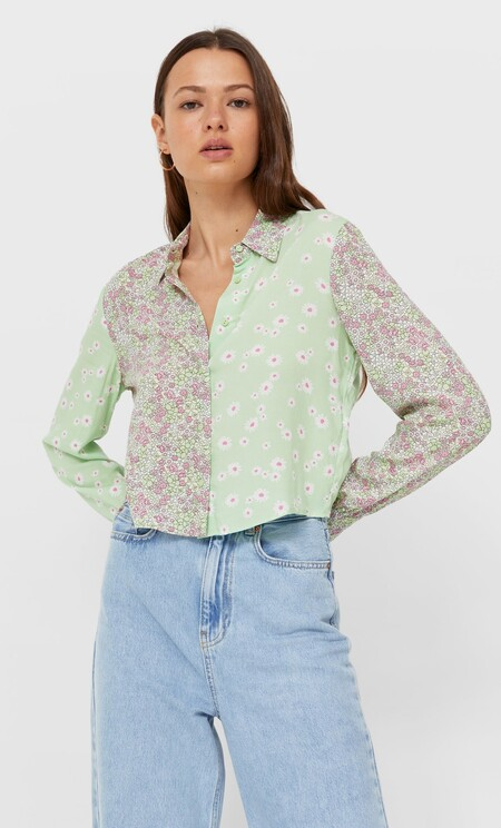 Camisa Patchwork Cropped 01