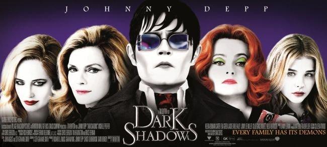 Uno de los carteles de la película Sombras Tenebrosas (Dark Shadows)
