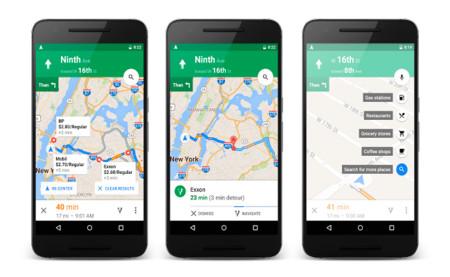 Google Maps 9.16 añade búsqueda de gasolineras y sitios de comida cercanos a nuestra ruta