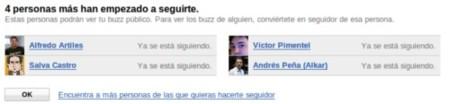 Google Buzz seguidores