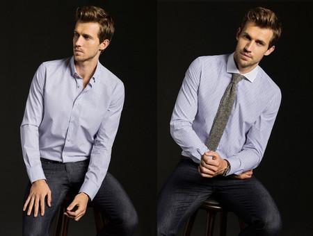 camisa massimo dutti rayas
