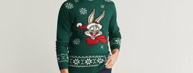 Mango también se suma a los jerseys y calcetines navideños para un clásico look de nochebuena