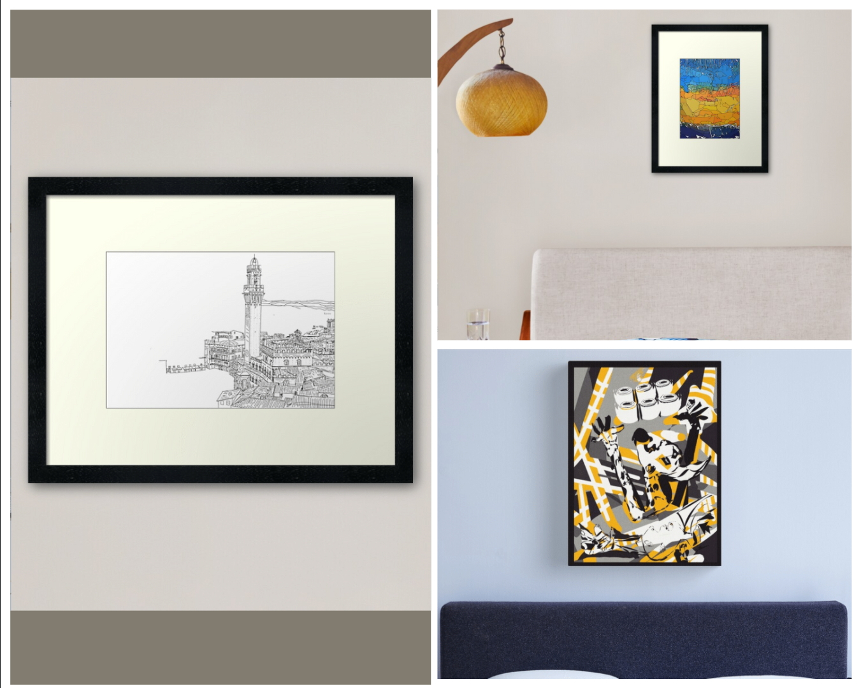 Láminas decorativas y lienzos originales