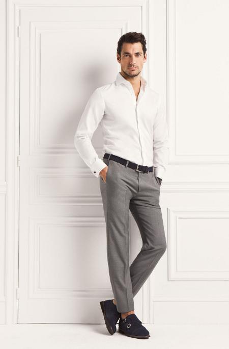 Pantalon Gris David Gandy Massimo Dutti
