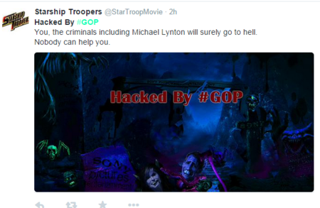 Hacked By Gop Sony Pictures Starship Troopers 0
