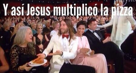 Jared Leto y la famosa pizza de los Oscar