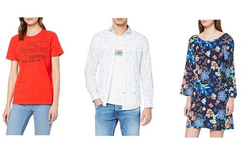 Chollos en tallas sueltas de vestidos, chaquetas o camisas Superdry, Pepe Jeans o Levi's en oferta en Amazon