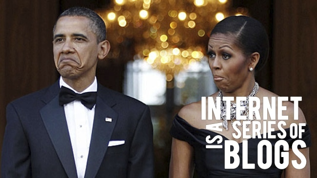 internet is a series of blogs obama