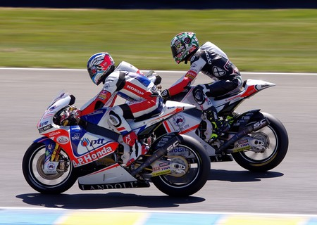 Thitipong Warokorn Louis Rossi Moto2 2014 Le Mans 14220007514