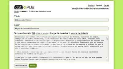 dotEPUB Creator, crea tu propio libro en formato EPUB y MOBI a partir de texto plano