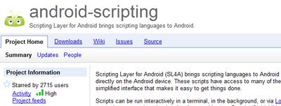 Programar en Python,Perl o Ruby para Android (y más)