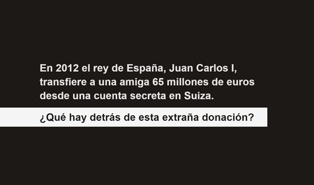 Portada del portal 'La donación' sobre los recientes escándalos de la Casa Real española