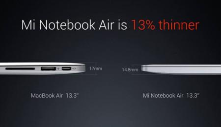 Comparación MacBook Air frente al Mi Notebook Air
