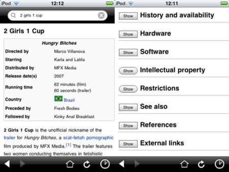 Aplicación oficial de Wikipedia para iPhone