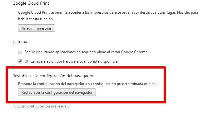 Chrome 29 incluye mejoras en las sugerencias y un botón para resetear el navegador