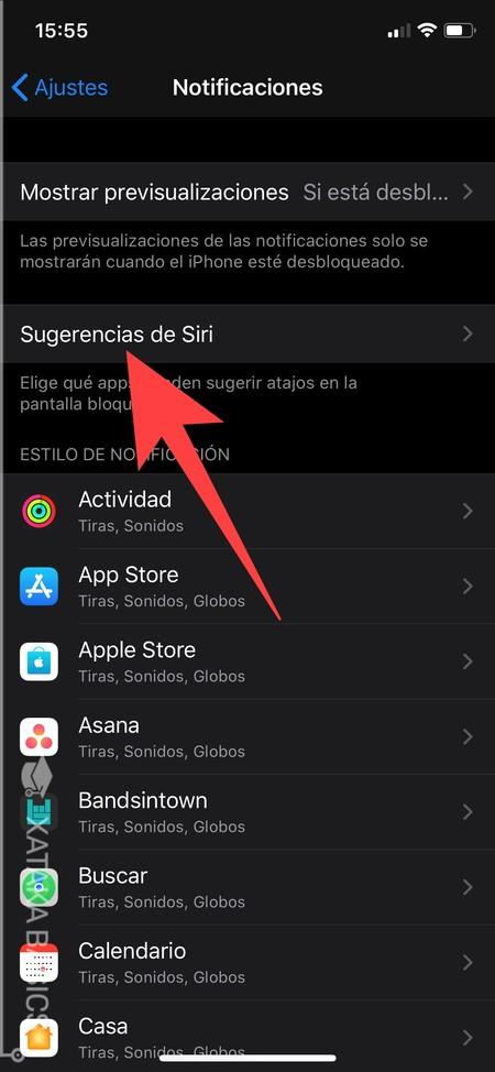 Sugerencias Siri